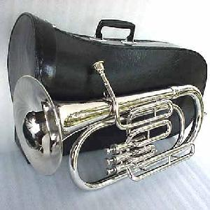 Silver March Baritone with Mouthpiece and case Image