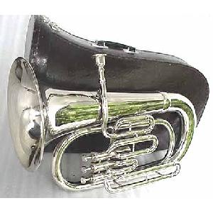 New Silver Bb Euphonium with Mouthpiece and Case Image