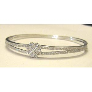 Sterling Silver Diamond Bracelet 92.5 purity Des4 Image