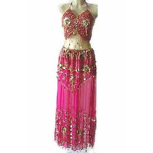 Sexy Belly Dance Costume Magenta Dress D Image