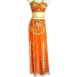 Orange Belly Dancing Costume Dress C Image