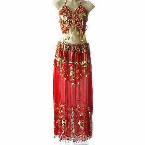 Belly Dance Clothes Costume Red Dress D Image