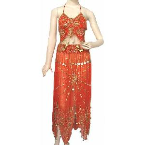 Belly Dancing Costume Dress Orange BB Image