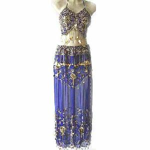 Blue Belly Dancer Costume with Pants FG Image
