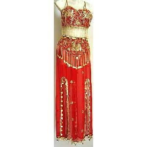 C Dress Red Belly Dancer Costume Image