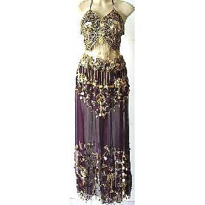 Egyptian Belly Dance Costumes Black Dress DS Image
