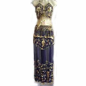Navy Belly Dancer Costume D Image