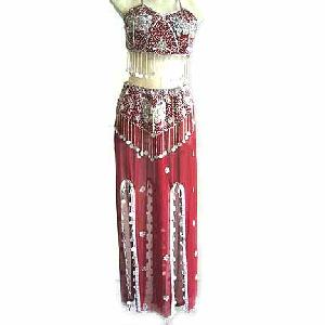 Maroon Belly Dancer Costume Dress CS Image