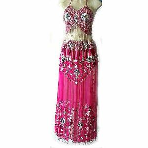 Magenta Belly Dancer Costume Dress DS Image