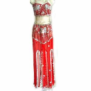 Gypsy Belly Dancer Costume Red Dress CS Image