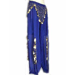 Belly Dancer Harem Pants Blue Aq Image