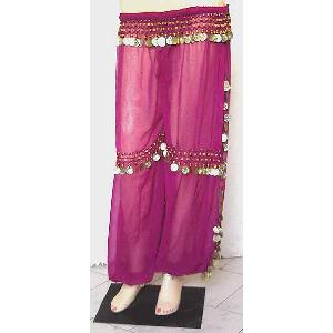 Belly Dancer Harem Pant Fuschia B Image
