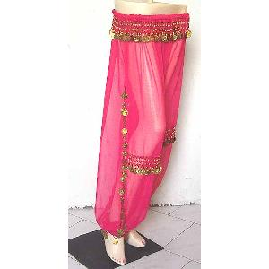 Belly Dancer Harem Pant Magenta B Image