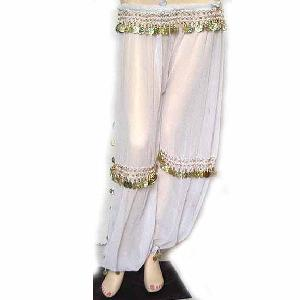 Belly Dancer Harem Pant White B Image