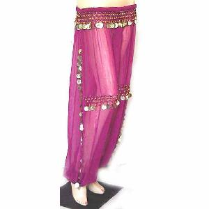 Belly Dancer Harem Pant Fuschia B Silver Image